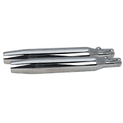 Tapered Muffler Kit - Chrome