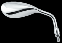 Tapered Oval Chrome Mirrors
