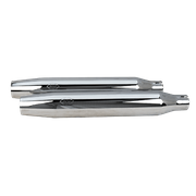 Tapered Slip-On Mufflers - Chrome