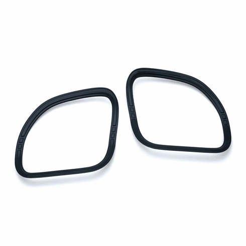 Tri-Line Speaker Accents for  Road Glide -  Gloss Black