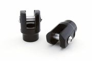 Universal Foot Peg Clevis - Black
