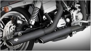 "Vance & Hines Black Twin Slash 3"" Slip-Ons"