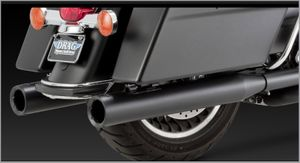 Vance & Hines BlackOut Round Slip-ons