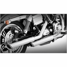 "Vance & Hines Chrome Twin Slash 3"" Slip-Ons"