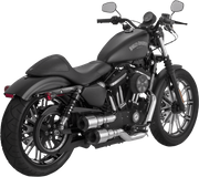 Vance & Hines Hi-Output Grenades Chrome with Black Tip