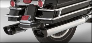 Vance & Hines Monster Ovals (Chrome With Black Tips )