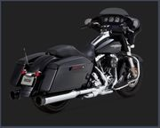 Vance & Hines Oversized 450 TITAN Slip-On's- Black Tips