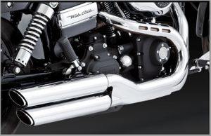 Vance & Hines Twin slash Slip-ons for Wide Glide
