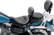 Mustang Wide Studded Seat w/ Removable Backrest and Pillion Pad w/ Removable Backrest