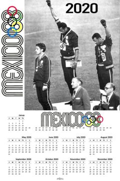 1968 Olympics Black Power 2020 Wall Calendar