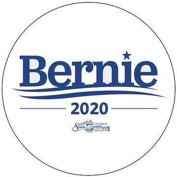 Bernie 2020 White Campaign Button