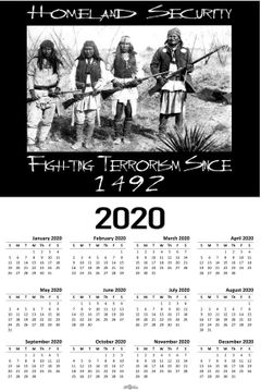 "Homeland Security 2020 Calendar 11"" X 17"""