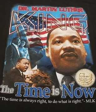 NEW! 2019 MARTIN LUTHER KING DAY - The Time is Now! BLACK T-Shirt 2-sided