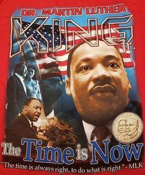 NEW! 2019 MARTIN LUTHER KING DAY - The Time is Now! RED T-Shirt 2-sided