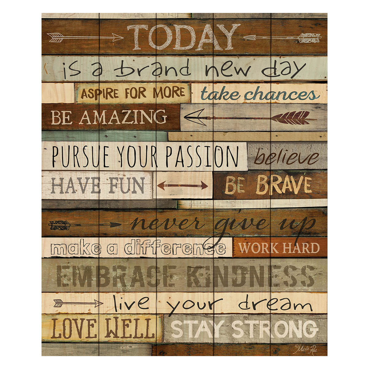 A Brand New Day Pallet Sign
