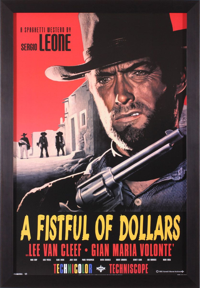 A Fistful of Dollars Framed Movie Poster