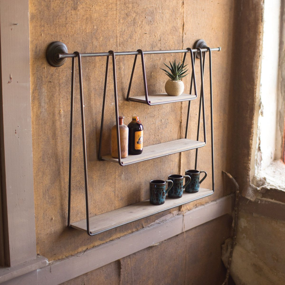 A-Frame Three Tier Hanging Shelf