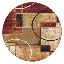 Abstract Desert Rug - 5 Ft. Round