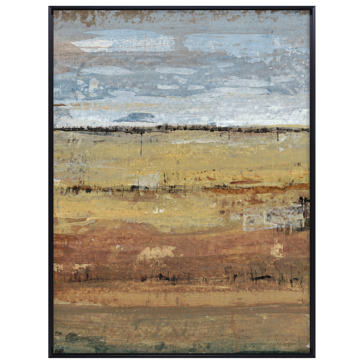 Abstract Field I Framed Canvas