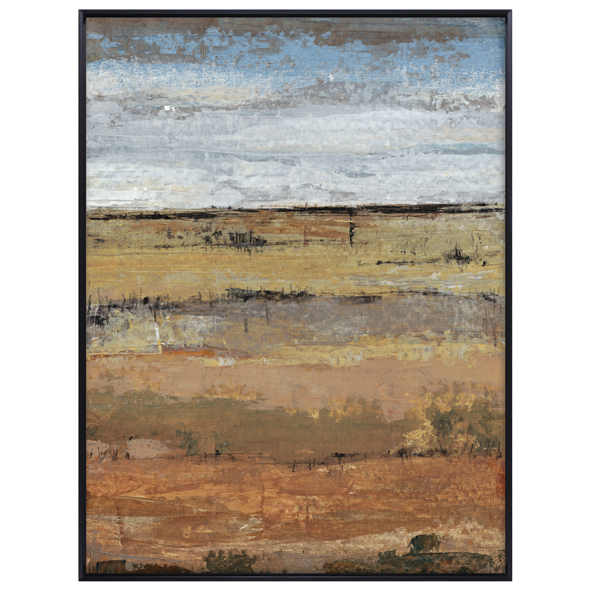 Abstract Field II Framed Canvas