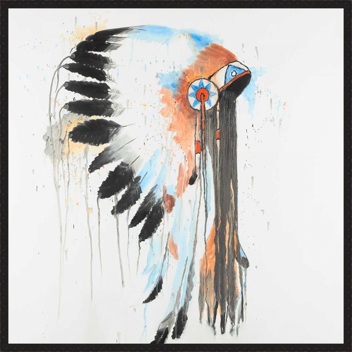 Abstract Headdress III Canvas Art