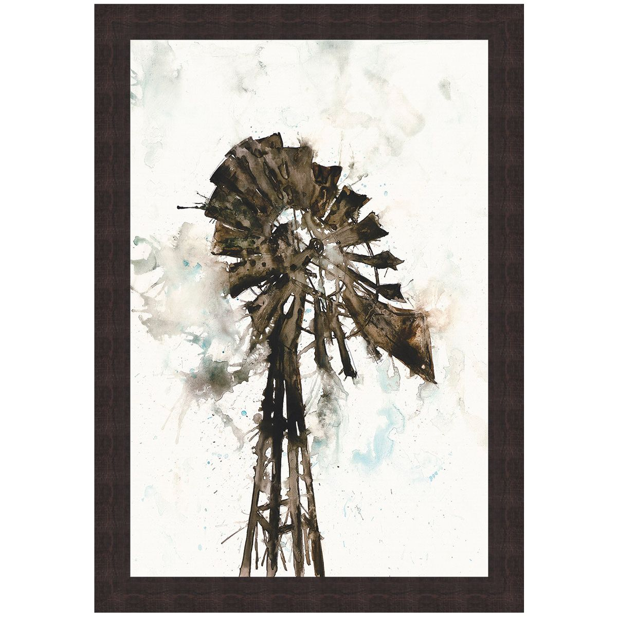 Abstract Windmill Canvas Art