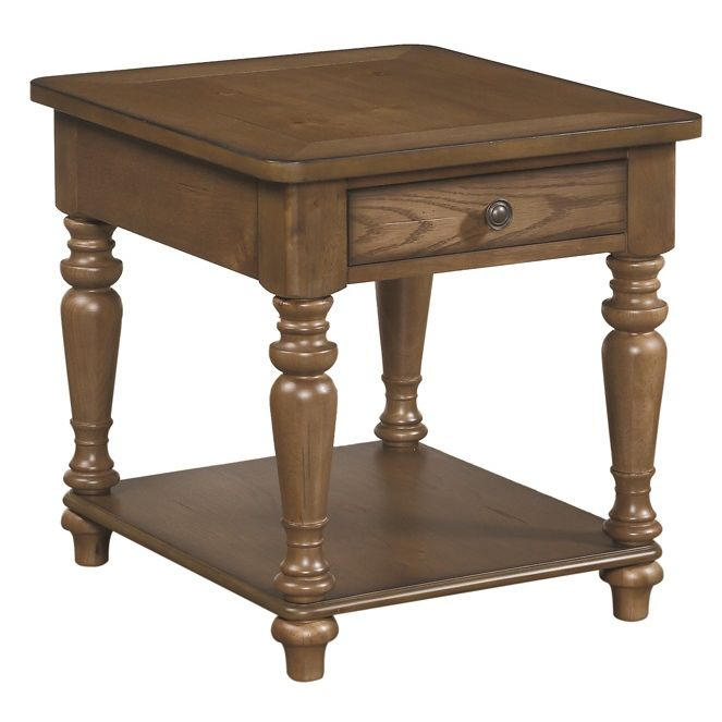 Acorn Brown Spindle End Table