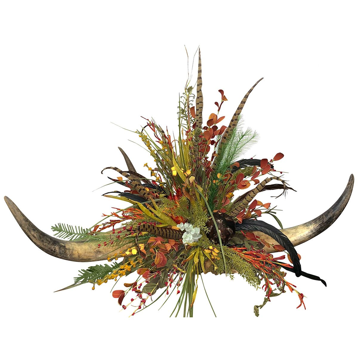 Adaline Three Horn Centerpiece