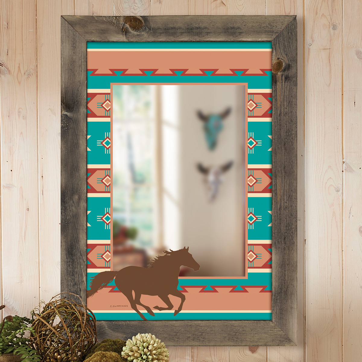 Adobe Canyon Framed Wall Mirror