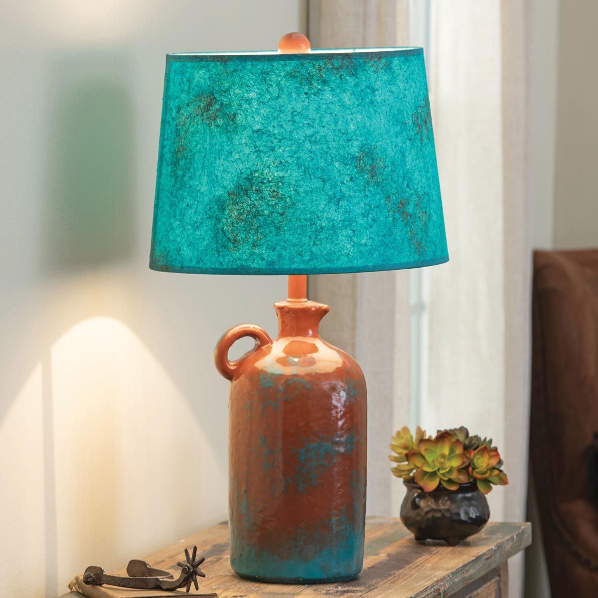 Adobe Canyon Pottery Jug Lamp