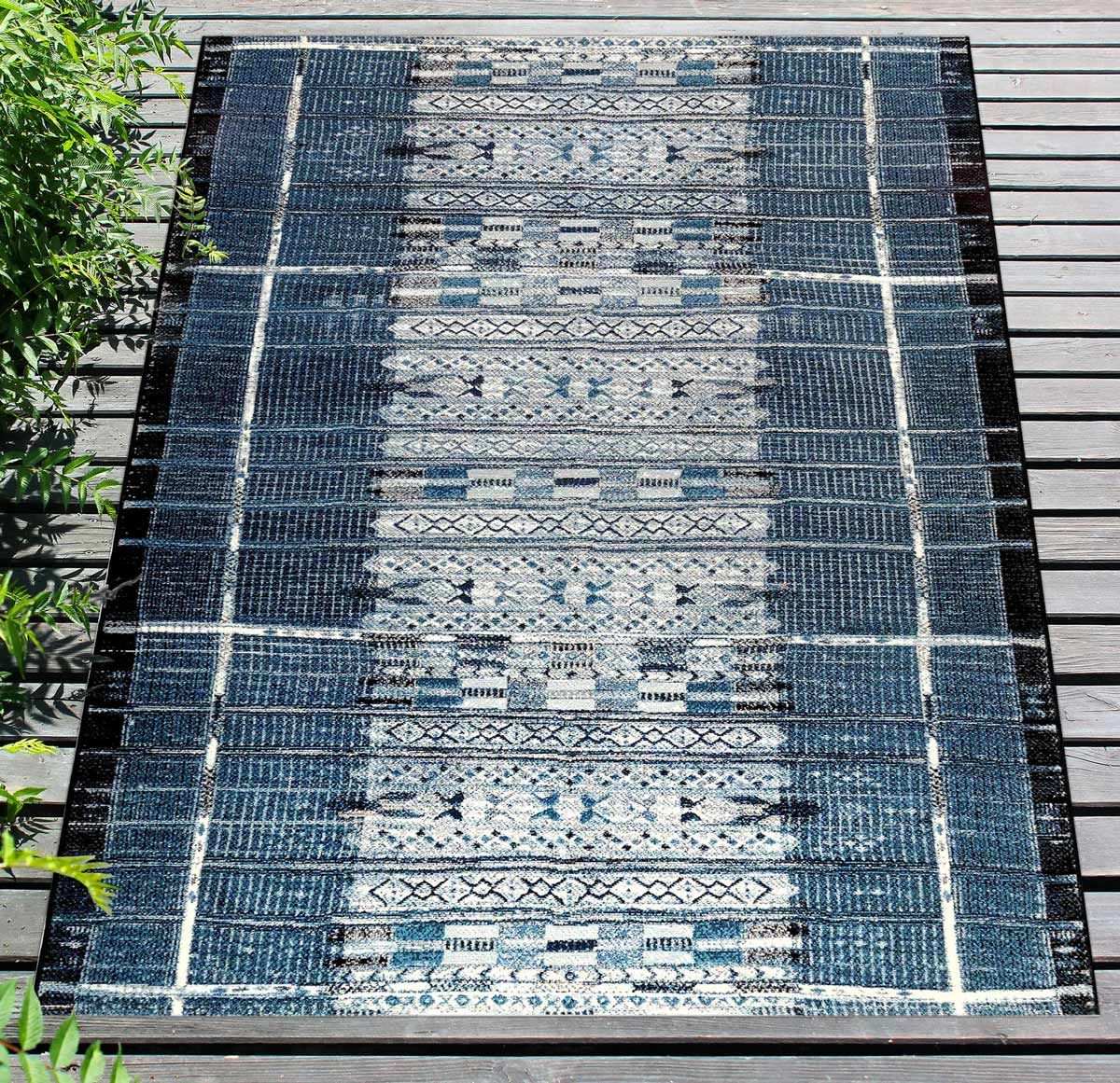 Adobe Indigo Indoor/Outdoor Rug - 8 x 10