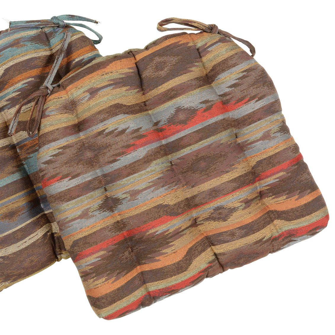 Adobe Stripes Mesquite Chair Pad