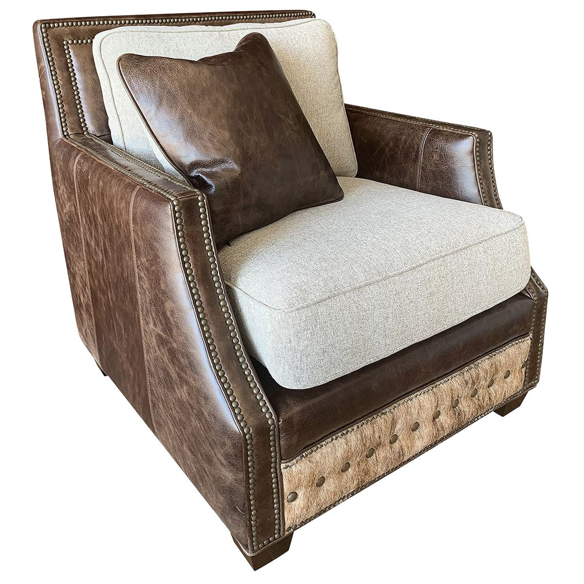 Adrian Contemporary Rustic Club Chair