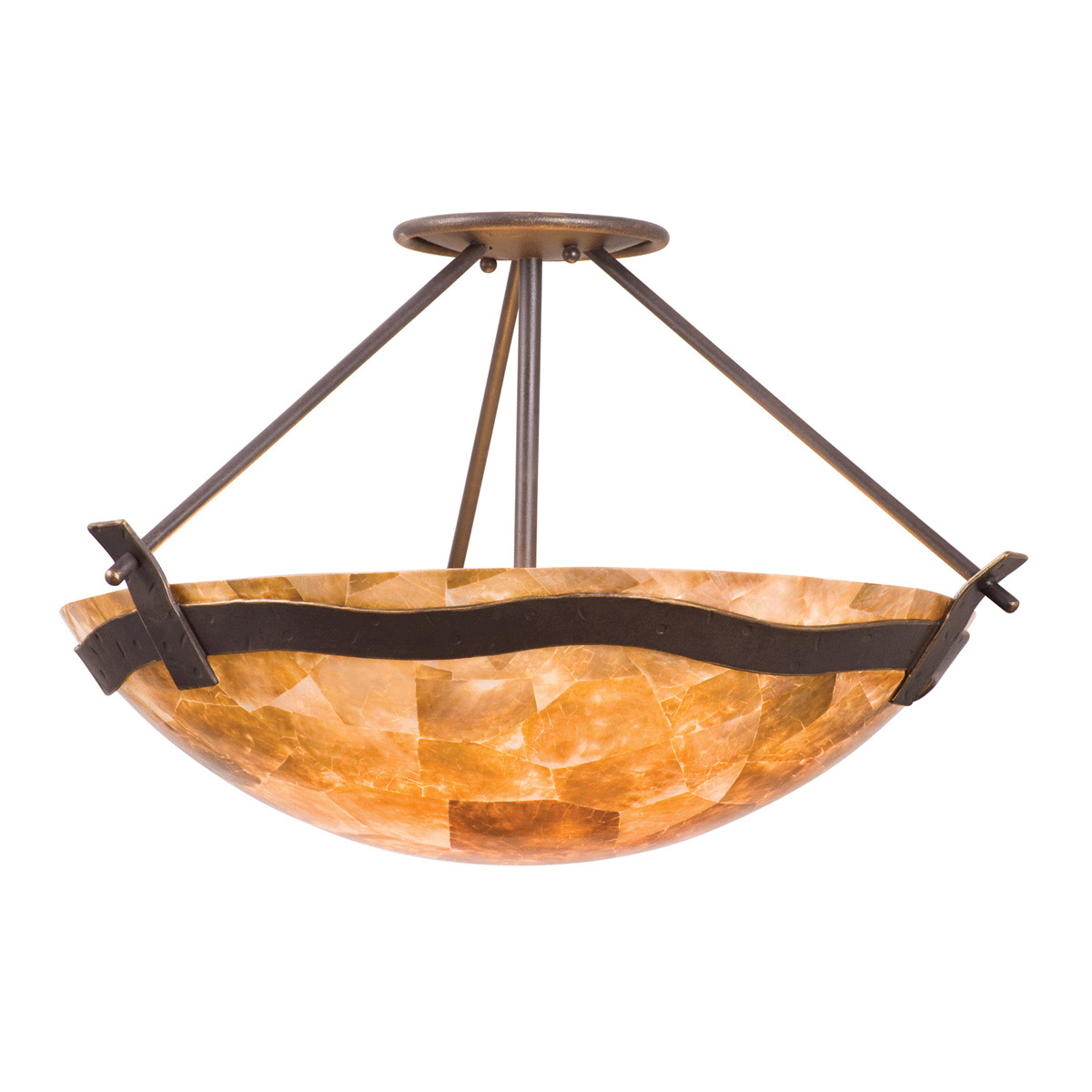 Aegean 3 Light Semi Flush Fixture