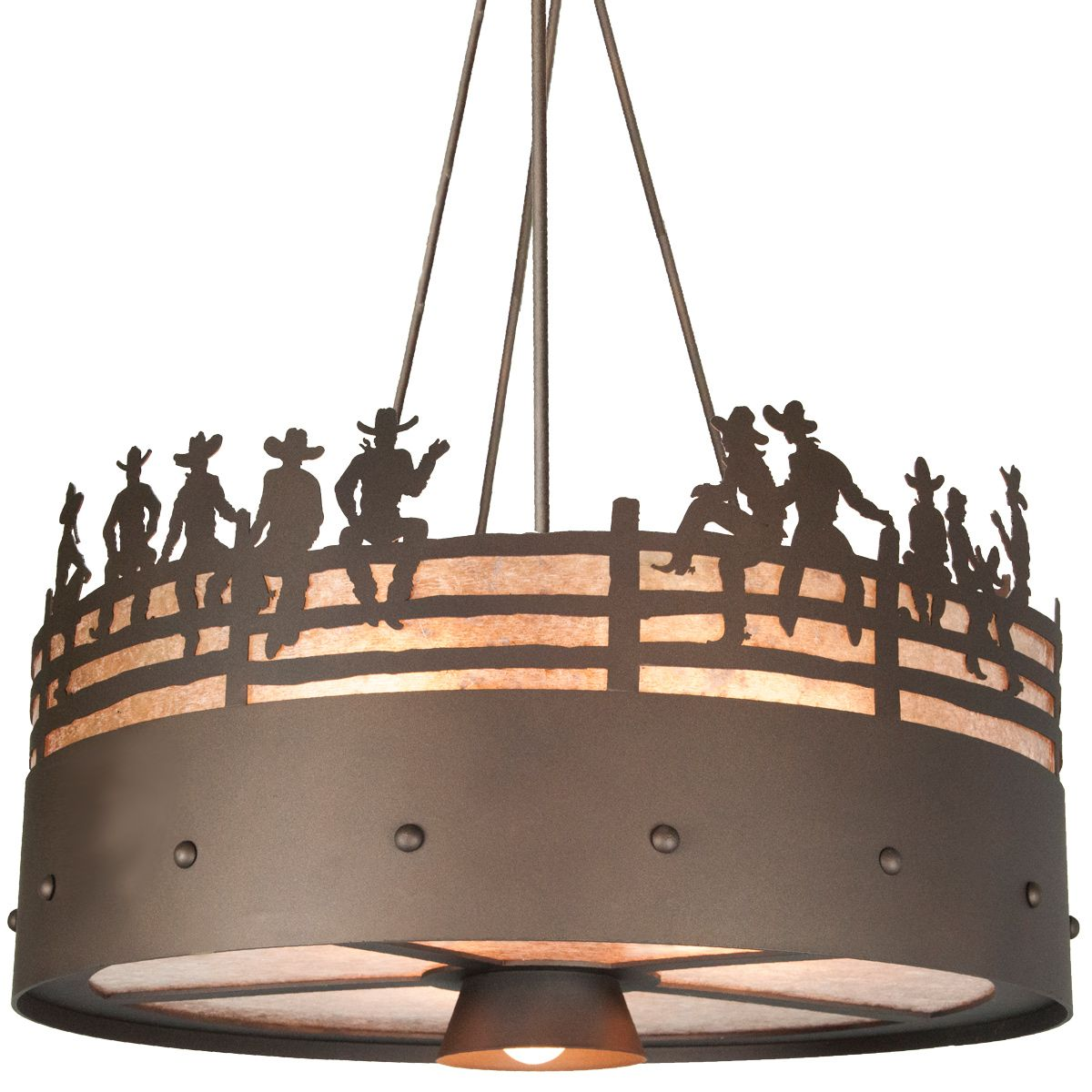 After the Roundup Chandelier - Architectural Bronze