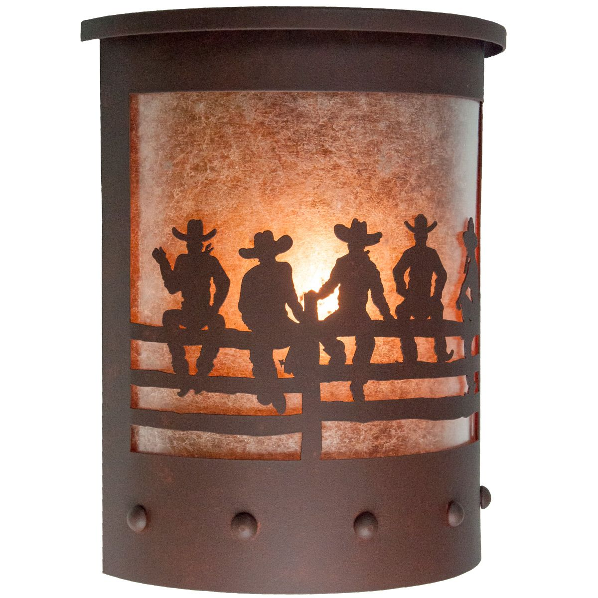 After the Roundup Wet Location Sconce - Rust