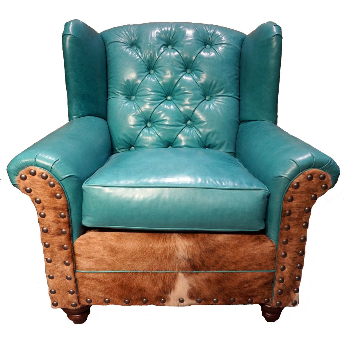 Albuquerque Turquoise Oversized Wingback Chair