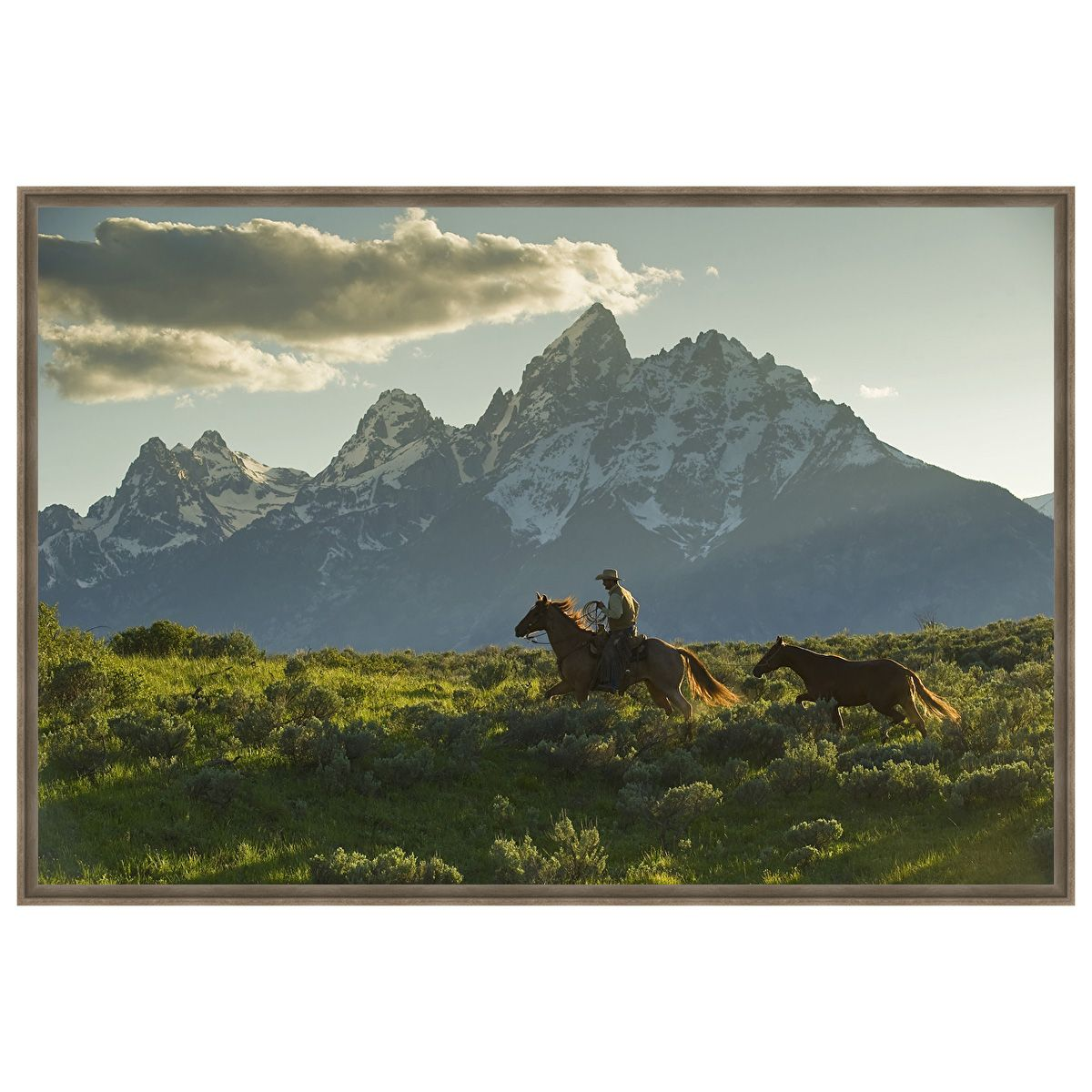 Along the Teton Trail Framed Canvas