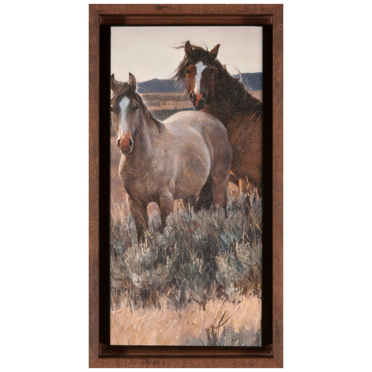 Amazing Grays II Brown Framed Canvas