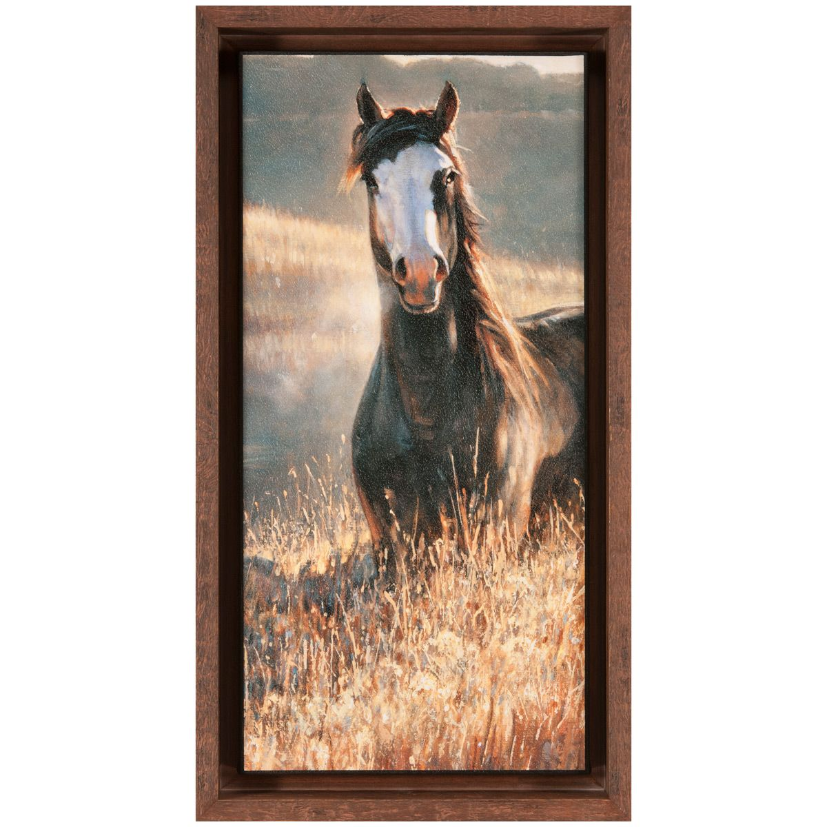 Amazing Grays III Brown Framed Canvas