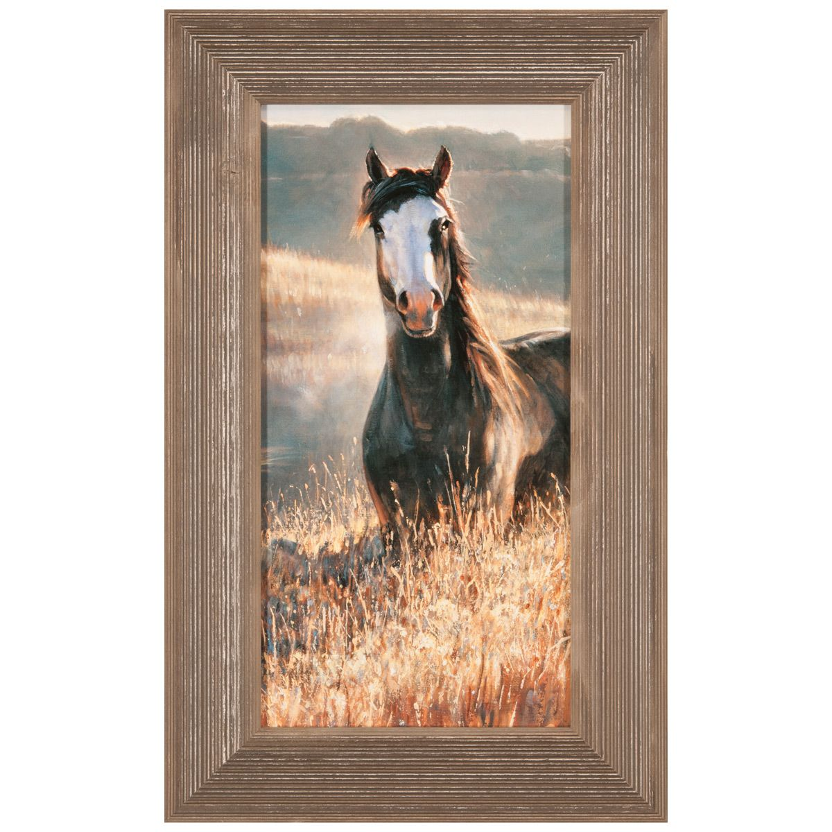 Amazing Grays III Multicolor Framed Canvas