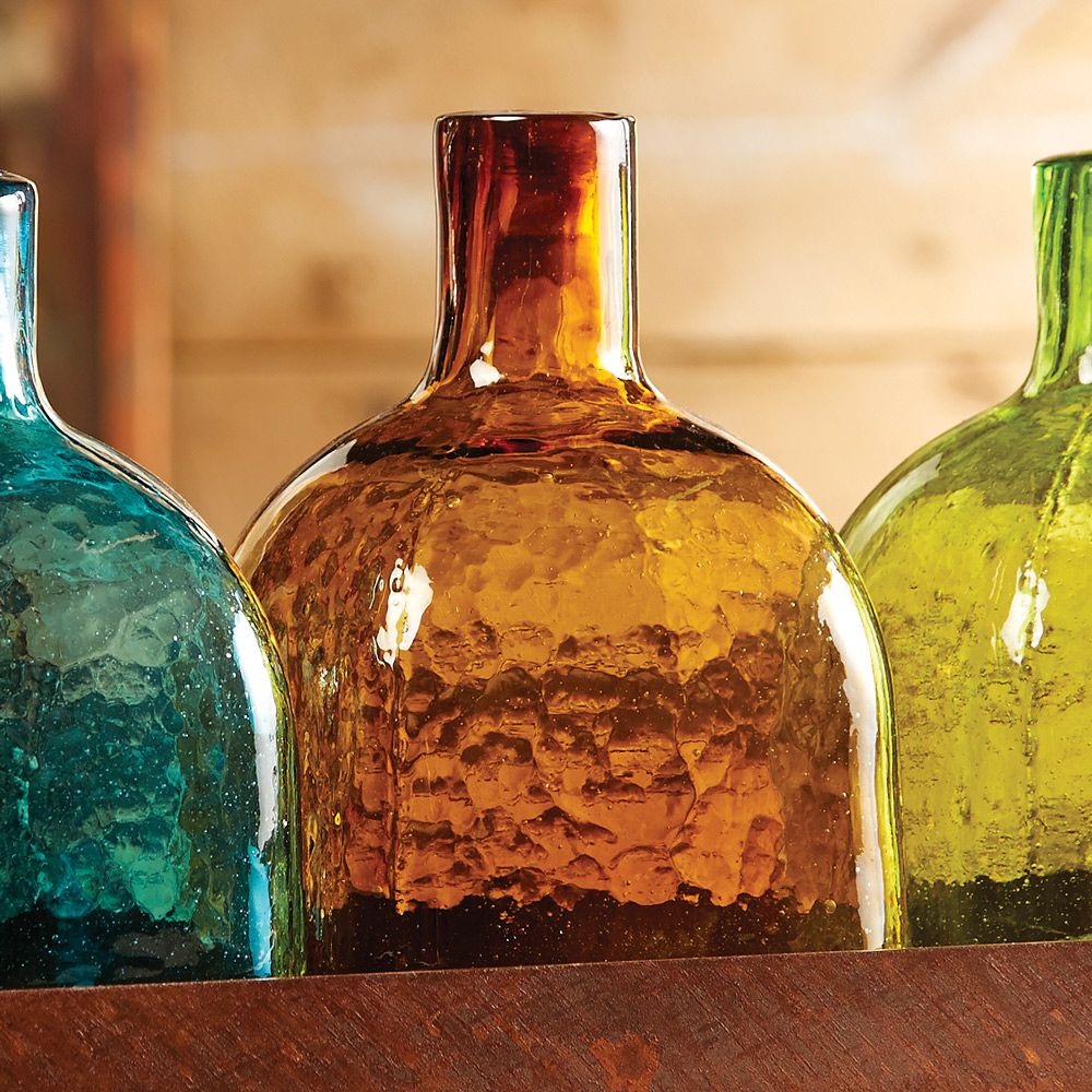 Amber Glass Tequila Bottle