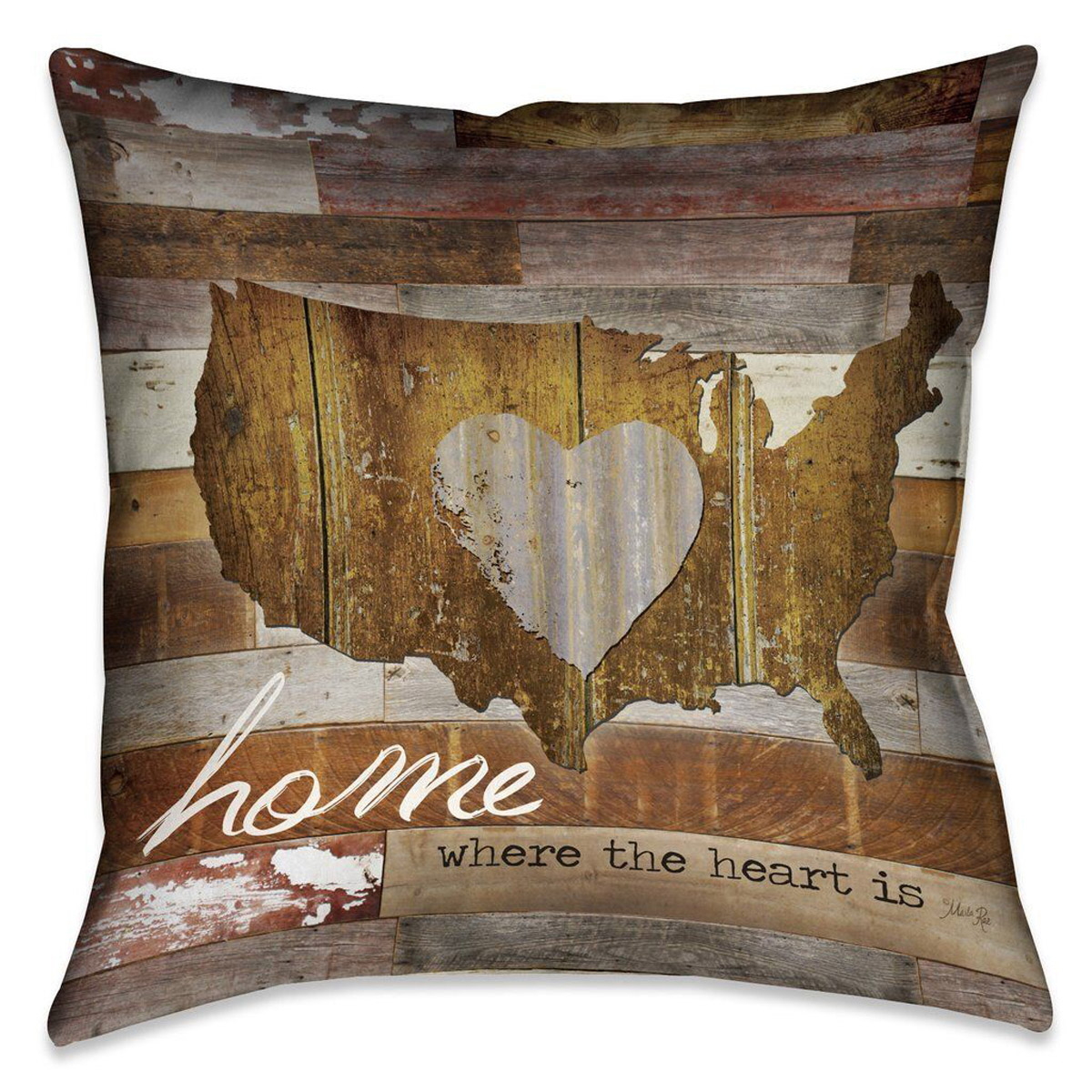 American Heart 20 x 20 Outdoor Pillow