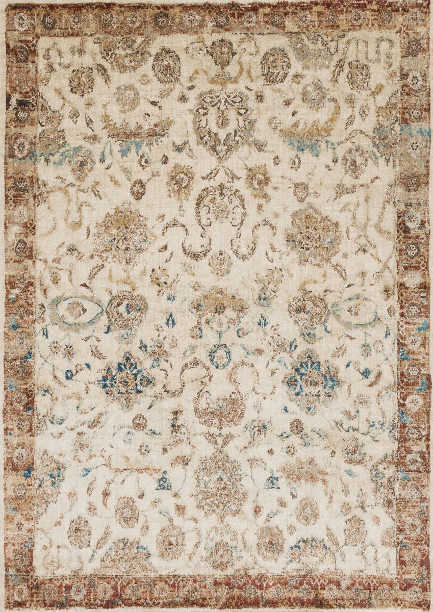 Anastasia Antique Ivory Rust Rug - 5 Ft. Round