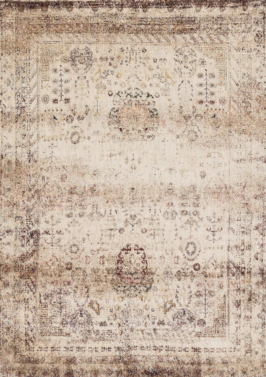 Anastasia Faded Ivory Multi Rug - 5 Ft. Round