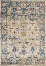 Anastasia Sand Light Blue Rug - 3 x 8