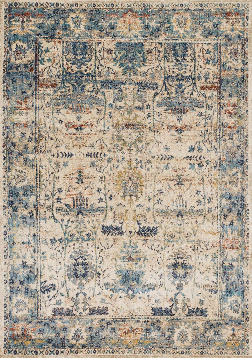 Anastasia Sand Light Blue Rug - 7 x 10