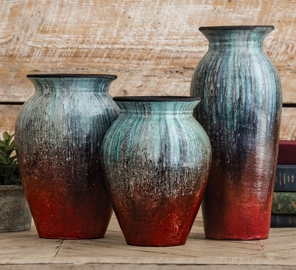 Angel Fire Pottery Vases (Set of 3)