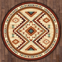 Angel Fire Tan Rug - 8 Ft. Round