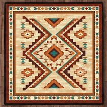 Angel Fire Tan Rug - 8 Ft. Square